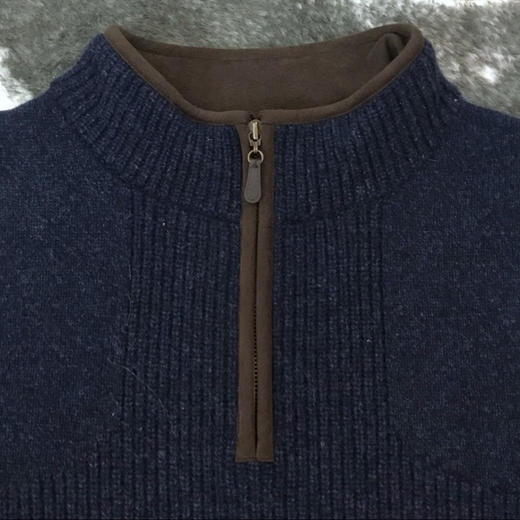 L.L. Bean Other - L.L. Bean Merino Lambs Wool Quarter Zip Sweater